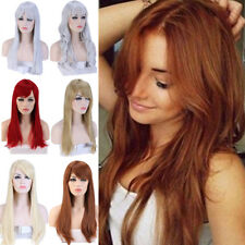 """Synthetic 23"""" Daily Full Wigs Curly Wavy Straight Heat Safe Costume Party Cfv"""