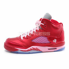 Nike Girls Air Jordan 5 Retro GS [440892-605] Basketball Gym Red/Ion Pink