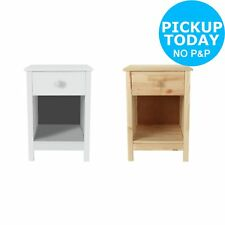 HOME Kids Scandinavia 1 Drawer Bedside Chest- Choice of White/Pine - From Argos