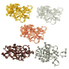 12Pcs Brass Ear Wire Screw On Clip Earring Ear Studs Hoop Jewelry Findings