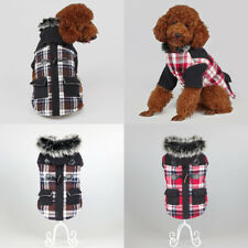 Popular Chic Pet Dog Puppy Winter Overcoat Christmas Holiday Clothes with Pocket