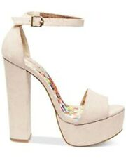 Madden Girl Womens Walflwr Open Toe Special Occasion Canvas Platform Sandals