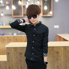 Men's Shirts Slim fit Korean styles cotton shirt Casual Long sleeved