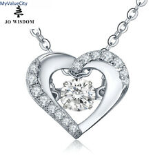 JO WISDOM Fine Jewelry 100% 925 Silver Necklace Women Heart Pendant...