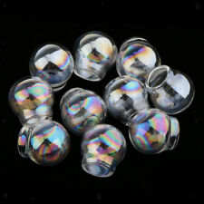 10pcs Round Glass Ball Display Bottles With Holes Jewelry Pendant Craft DIY