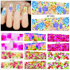 KQ_ Flowers Pattern DIY Nail Art Stickers Self-Adhesive Water Manicure Tool Late