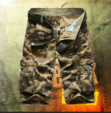 Army Cargo Work Shorts S Men Cotton Pants Mens Drill Casual Pockets  Camo Work L