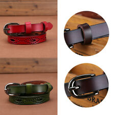 Sweetness Women Thin Skinny Waistband Candy Color Leather Belts Adjustable Belt
