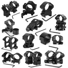 25.4mm Various Tactical Scope Rings Mount Weaver Picatinny Rail For Rifle NEW BY