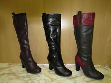 Ladies Coco Knee High Boots Available in 3 colours grey& red, Black ,Plum,L9329