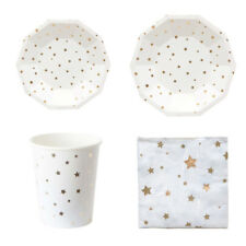 Lovely Hot Plates Party Paper Tableware Gilding Napkins Supplies Disposable Cups
