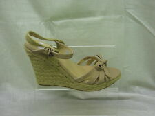 Ladies Savannah Slingback Open Toe Wedge Sandal, Nude, L6055