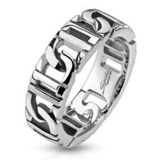 Stainless Steel Unisex Ring Bound Chains - 5 Größen NEW Jewellery from coolbody