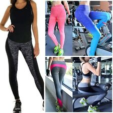 Womens Ladies Yoga Running Legging Gym Outfit Sports Fitness Pants Jeggings L075