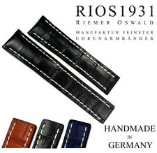 Watch Band 22mm RIOS1931 Folding Clasp Suitable Breitling Leather Germany
