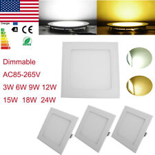 Dimmable Ceiling LED Recessed Panel Light Flat Downlight Slimline Lamp Wholesale