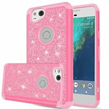 Google Pixel 2 Case Shockproof Silicon Corner Screen Protector Cute Glitter Pink