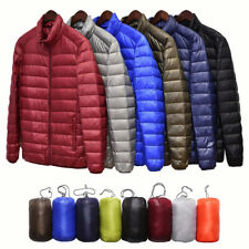 US Men Packable Stand Collar Style Down Jacket Ultralight Outerwear Coat Puffer
