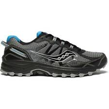 NEW Mens SAUCONY Black Blue Mesh Synthetic EXCURSION TR11 TRAIL Running Shoes