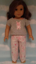 """Pajamas handmade for 18"""" American Girl Doll to fit 18 inch Doll Clothes 300a"""