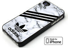 Adidas Striped White Marble Cover iPhone 5 5s 6 6s 6+ 6s+ 7 7+ TPU Rubber Case