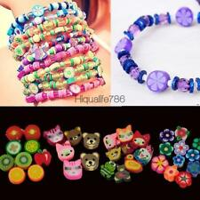 100 PCS Clay Beads DIY Slices Mixed Color Fimo Polymer Clay HE8Y