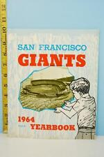 1964 San Francisco Giants Baseball Yearbook Very Good Condition Mays McCovey