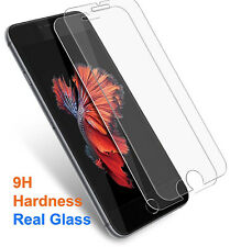2 For Apple iPhone X 8 7 6 6s Plus 5S Real Tempered Glass Screen Protector Guard