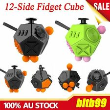 12-Side Fidget Cube Toy Anxiety Stress Attention Relief Puzzle Adults Kids AM