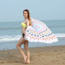 Large Round Beach Towel Picnic Yoga Mat Tablecloth Microfiber Bohemian Hippie