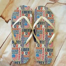 Freedom USA Hearts Beach Bath Pool Sandals Flip Flops Flop Shoes Slippers Slides