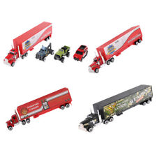 1:64 Diecast Transporter Container Truck w/3 Cars Vehicle Model Kids Toy Playset
