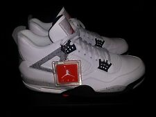 Nike Air Jordan 4 Retro IV White Cement OG Fire Red/Tech Grey All New Size 16