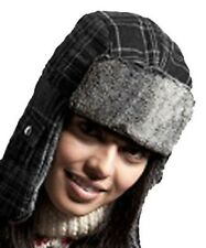 New Mens Ladies Unisex Adult Fur Trimmed Alfie Checked Warm Winter Trapper Hat