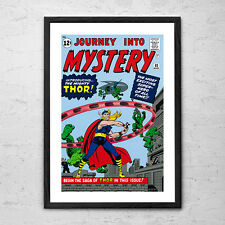 Comic Book Posters - Choose from 12 x Framed 'Man Cave' Comic Book Poster Prints