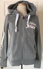 $70 NWT Womens Tommy Hilfiger Jeans 85 Fleece Full Zip Hoodie Sweatshirt Gray