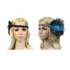 Vintage Indian Feather Fascinator Headband Wedding Hen Party Hair Accessories
