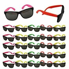Neon Sunglasses Party Favors - Set of 25 Plastic Neon Shades for Kids and Adults