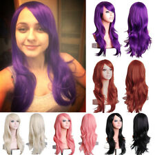 Fashion Ladies Anime Wig Layer Wavy Heat Ok Cosplay Halloween Party 79K