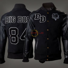Metal Gear Solid V 1984 Diamond Dogs Big Boss Varsity Black Wool Leather Jackets
