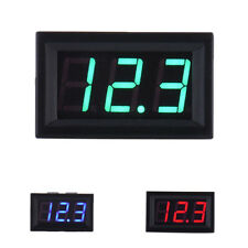 2 Wire DC5-120V LED 3-Digit Display Voltmeter Volt Meter Panel Car 3 Colors