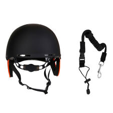 By CE - Water Sports Kayak Paddleboard Safety Helmet + Canoe Paddle Coiled Leash
