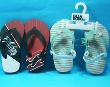 BILLABONG BABY FLIP FLOPS BEACH Red or Pink Boys Thongs children Baby Size 9 NEW