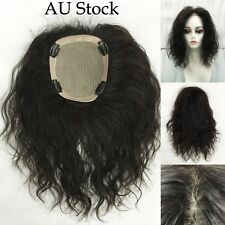 MONO TOP PIECE 100% REMY HUMAN HAIR 16x14cm AREA 35cm LONG Straight or Wave