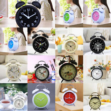 18 Traditional Loud Double Bell Alarm Clock Bedside Tabletop Night Light