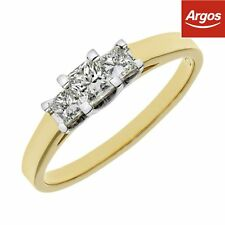 18ct Gold 0.50ct Diamond Princess Cut Eternity Ring - Choice of Size. From Argos