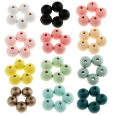 30pcs Small Charms Round Ball Spacer Beads Jewelry Findings 14mm Dyed Color