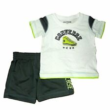 Converse Infant Toddler Boys 2 Piece Athletic T-Shirt Gray Mesh Shorts Set