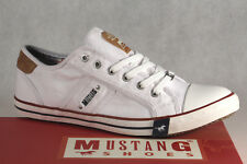 Mustang Lace Up Sneakers Low Shoes Trainers Rubber Sole White NEW