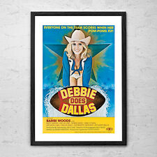 Debbie Does Dallas - Choose from 3 x Framed 'Man Cave' Porn Movie Poster Prints